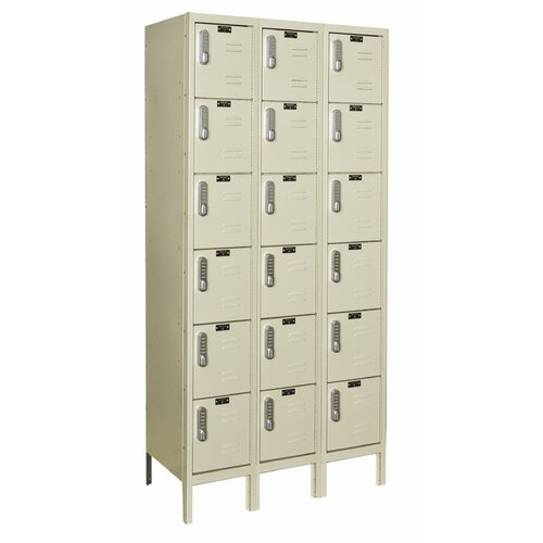 Hallowell DigiTech Electronic Locker 6 Tier 3 Wide (Assembled) (Quick Ship)