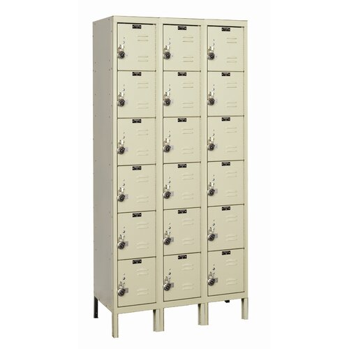 Hallowell ReadyBuilt 6 Tier 3 Wide School Locker
