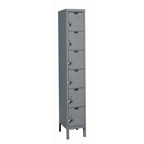 Hallowell ReadyBuilt Locker 6 Tier 1 Wide (Assembled) (Quick Ship)