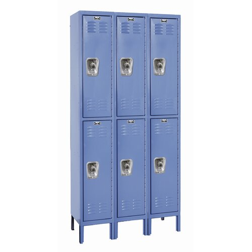 Hallowell ReadyBuilt Locker Double Tier 3 Wide (Assembled) (Quick Ship)