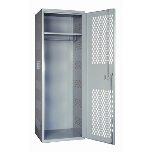Hallowell SecurityMax High Security Welded Locker with Diamond Perforated Door in Platinum (Assembled)