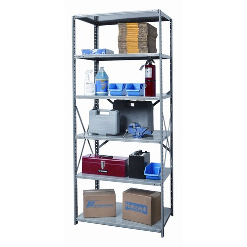 Hallowell Hi-Tech Heavy-Duty Open Type 6 Shelf Shelving Unit Starter