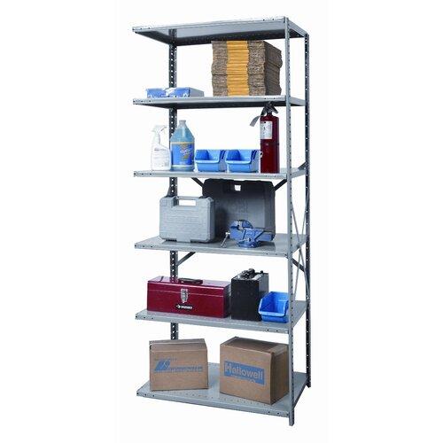 Hallowell Hi-Tech Heavy-Duty Open Type 6 Shelf Shelving Unit Add-on