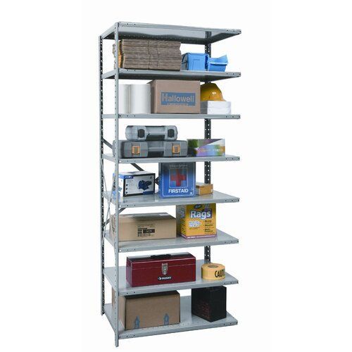 Hallowell Hi-Tech Duty Open Type 7 Shelf Shelving Unit Add-on
