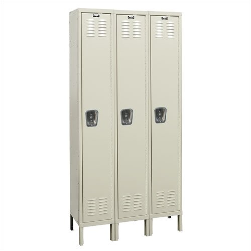 Hallowell Premium 1 Tier 3 Wide Knock-Down Locker