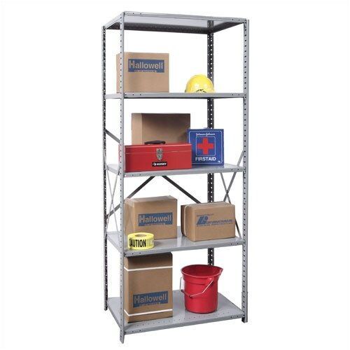 Hallowell Hi-Tech Open Type 5 Shelf Shelving Unit Starter