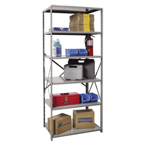 Hallowell Hi-Tech Open Type 6 Shelf Shelving Unit Starter