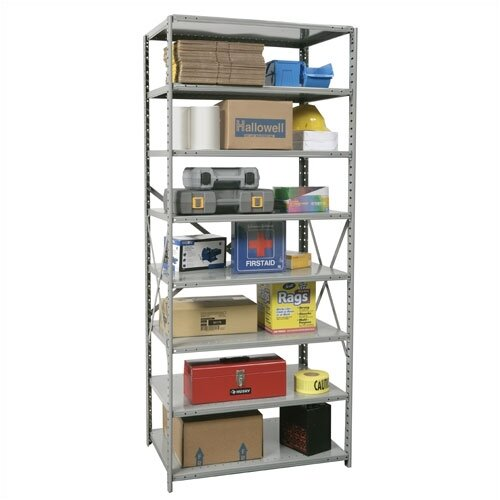 Hallowell Hi-Tech Open Type 8 Shelf Shelving Unit Starter