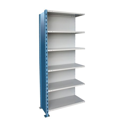 Hallowell H-Post High Capacity Closed Style 6 Shelf Shelving Unit Add-on