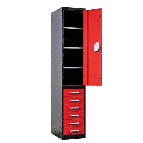 Hallowell Fort Knox 2 Tier 1 Wide Utility Storage Locker