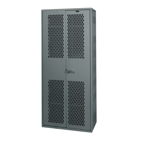 Hallowell TA50 Equipment Storage 1-Wide Single Tier All-Welded Double Door Locker with Base / Drawer (Quick Ship)