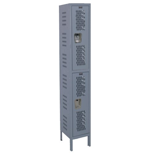 Hallowell Heavy-Duty 2 Tier 1 Wide Ventilated Locker