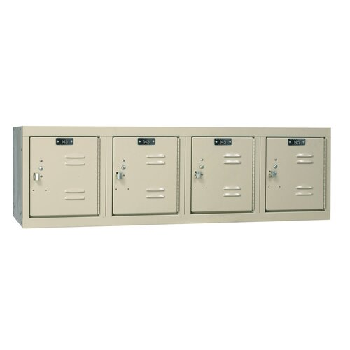Hallowell Premium Locker 4 Wide Wall Mount (Assembled) (Quick Ship)