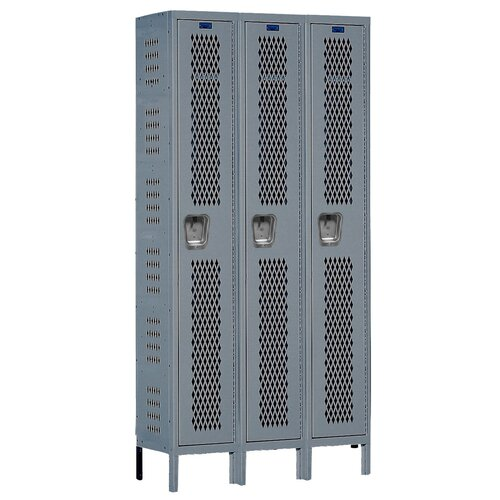 Hallowell Heavy-Duty 1 Tier 3 Wide Ventilated Box Locker