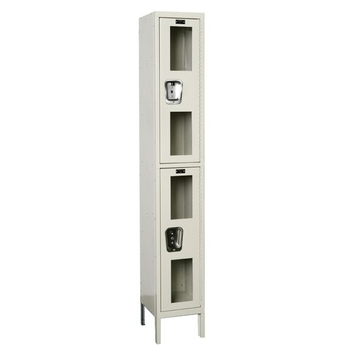 Hallowell Safety-View Locker Double Tier 1 Wide (Knock-Down) (Quick Ship)