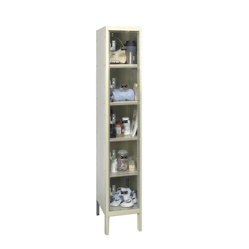 Hallowell Safety-View Plus Locker 5 Tier 1 Wide (Knock-Down) (Quick Ship)