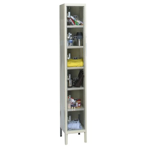Hallowell Safety-View Plus 1-Wide 6-Tier Locker (Assembled) (Quick Ship)