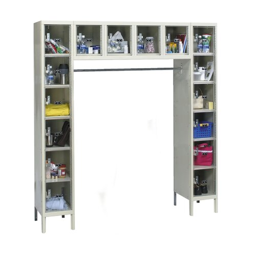 Hallowell Safety-View Plus 1-Wide 16-Person Locker (Unassembled) (Quick Ship)