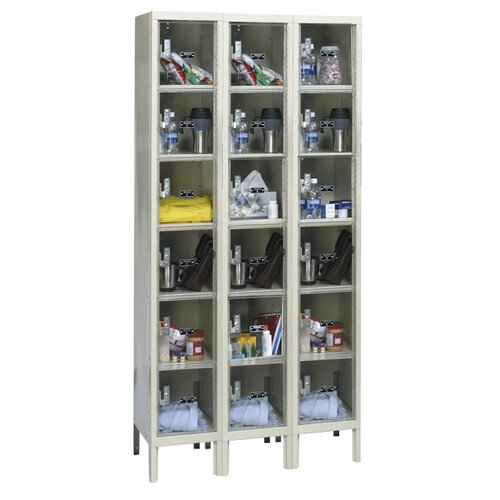 Hallowell Safety-View Plus Locker 6 Tier 3 Wide (Knock-Down) (Quick Ship)