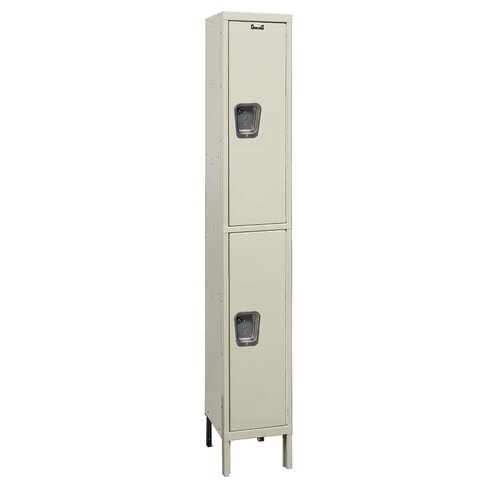 Hallowell Maintenance-Free 2 Tier 1 Wide Quiet Locker