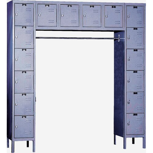 Hallowell Premium 6 Tier 16 Person Locker