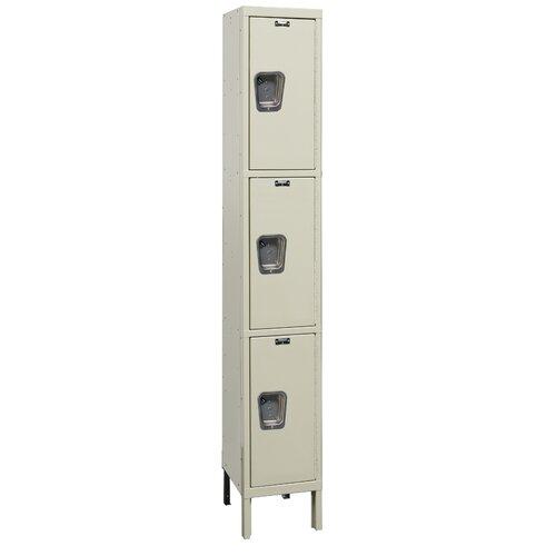 Hallowell Maintenance-Free 3 Tier 1 Wide Quiet Locker