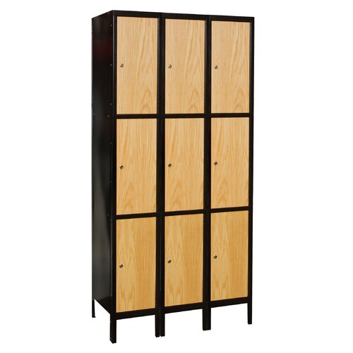 Hallowell Hybrid 3 Tier 1 Wide Knock-Down Locker