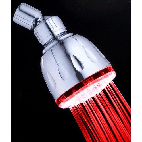 MagicShowerhead 2 Minute Color Changing Fixed LED Illuminated Shower Head
