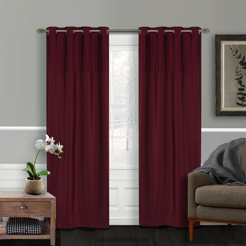 LJ Home Vision Faux-Silk Grommet Window Panel Pair