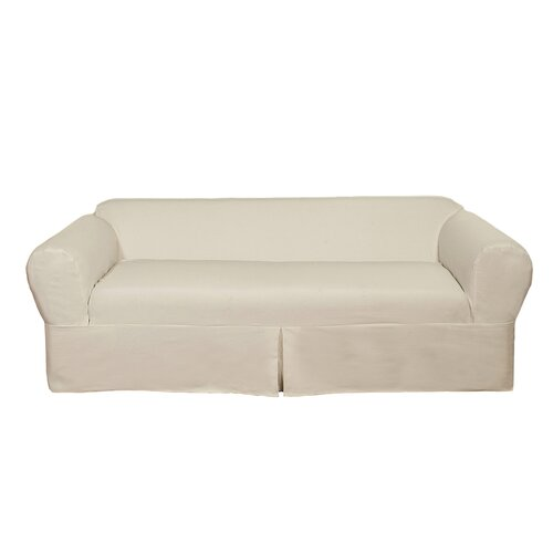 Brushed Twill Loveseat Slipcover