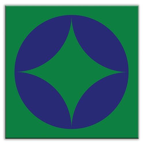 "Oscar & Izzy Folksy Love 6"" x 6"" Glossy Decorative Tile in Peek Blue-Green"