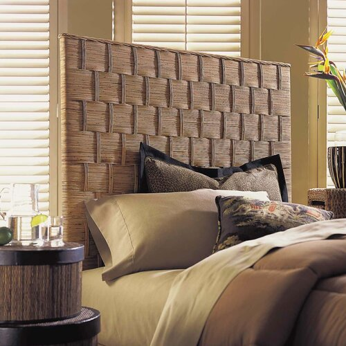 Padmas Plantation Rattan Weave Panel Headboard