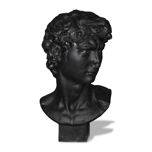 ResinStone David Bust Statue