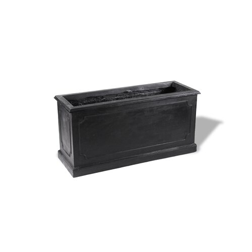 ResinStone Paneled Rectangular Planter