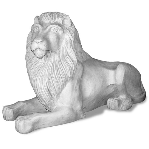 ResinStone Library Lion Statue