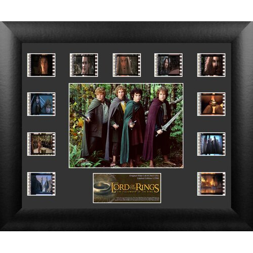 Trend Setters Lord of the Rings: Fellowship of the Ring Mini Montage FilmCell Presentation Framed Memorabilia
