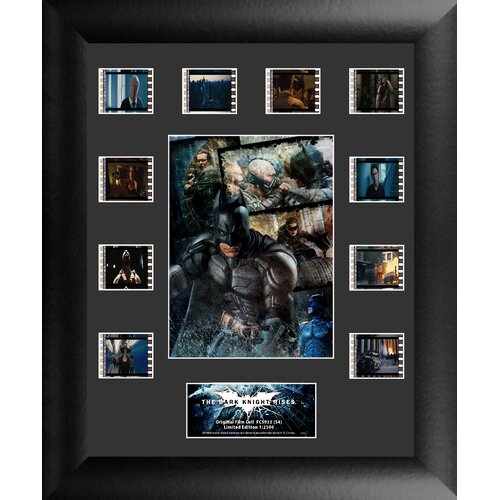 Trend Setters Batman The Dark Knight Rises Mini Montage FilmCell Presentation Framed Memorabilia