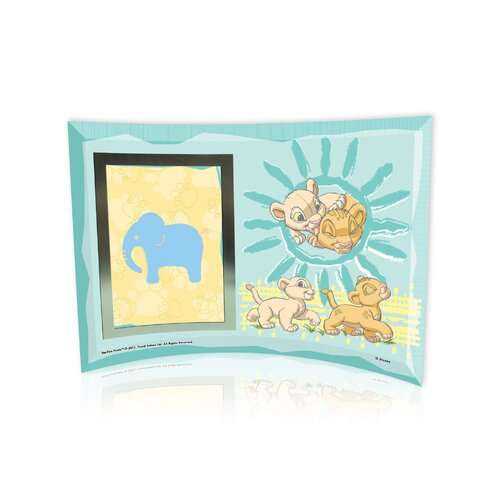 Lion King (Best Friends) Curved Glass Print with Photo Frame