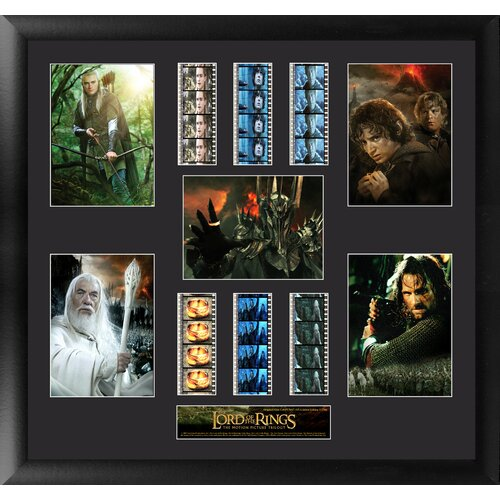 Trend Setters Lord of the Rings Trilogy Montage FilmCell Presentation Framed Memorabilia