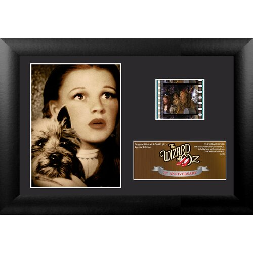 Trend Setters Wizard of Oz 75th Anniversary Mini FilmCell Presentation Framed Memorabilia