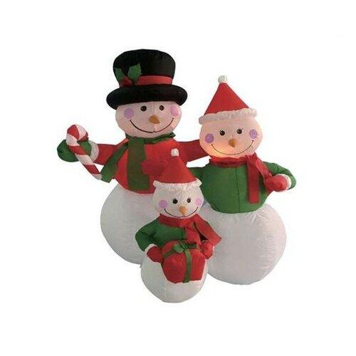 Christmas Inflatable Snowmen Family Decoration