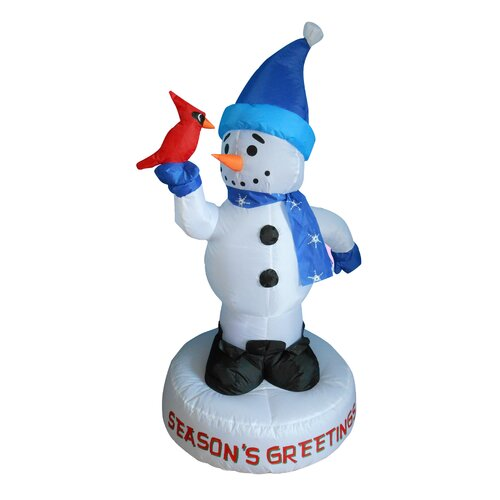 Christmas Inflatable Snowman with Bird Decoration