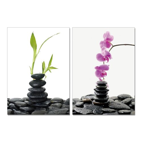 Spring into Summer Orchids Modern 2 Piece Photographic Print