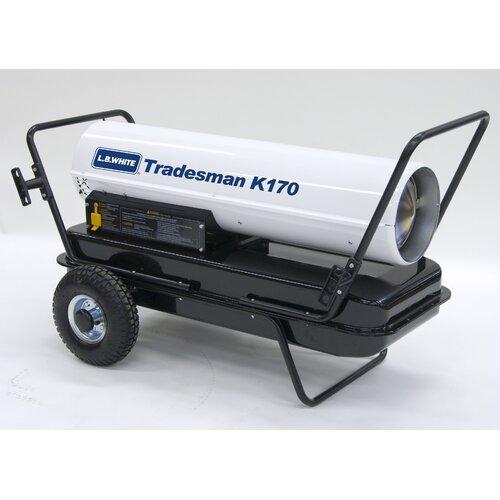 L.B. White Tradesman 170,000 BTU Utility Kerosene Space Heater
