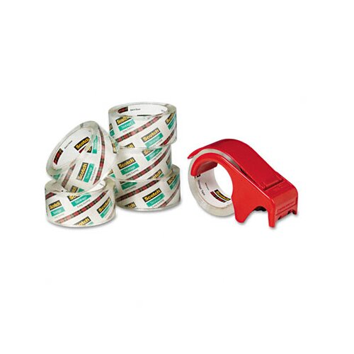 3M Scotch Moving and Storage Tape, 6 Rolls/Pack