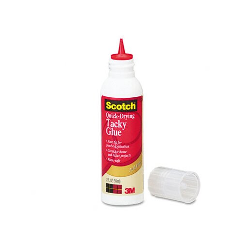 3M Quick-Drying Tacky Glue, 4 oz, Roller