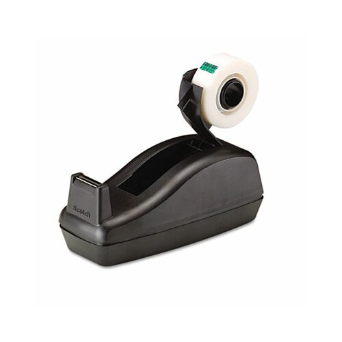 "3M C40 Desk Tape Dispenser and Six Rolls Scotch Magic Tape, 1"" core, Black"