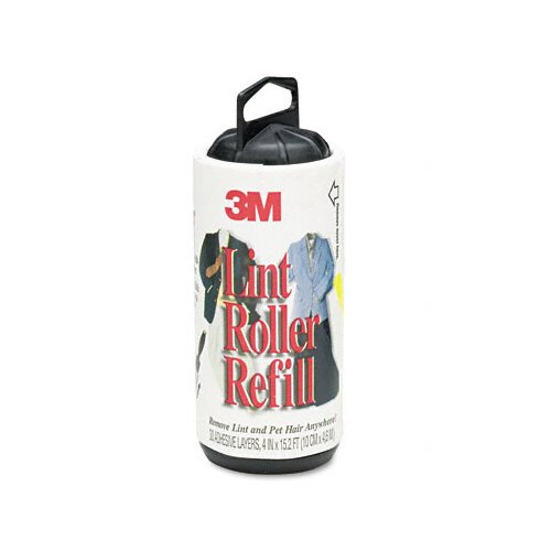 3M Scotch-Brite Lint Roller Refill Roll, 30 Sheets/Roll