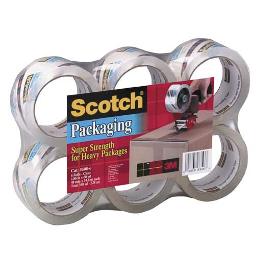 3M Scotch Sure Start Packaging Tape, 3/Pack