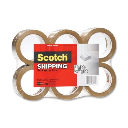 3M Scotch 3350 General Purpose Packaging Tape, 6/Pack